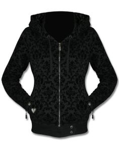 SULLEN ANGELS LUCKY GIRL DAMASK HOODIE