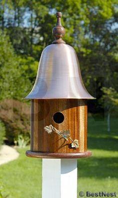 Heartwood Ivy Bird House, Mahogany at BestNest.com
