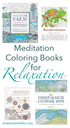 Meditation Coloring Books For Relaxation Mindfulness