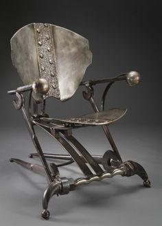 """Pontiac"" by Cindy wynn - Metal Art Chair Art Furniture, Funky Furniture, Industrial Furniture, Cheap Furniture, Furniture Design, Metal Projects, Metal Crafts, Steampunk Furniture, Sculpture Metal"
