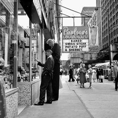 """Vivian Maier photo: August, 1960; Chicago, IL This is a picture of Don Koehler who at the time was considered to be the tallest man in the word at 8'2""""..."""