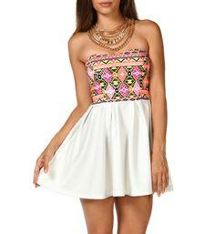 Colorful Aztec Print Dress