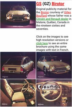 '70s Citroën GS Birotor - Canada