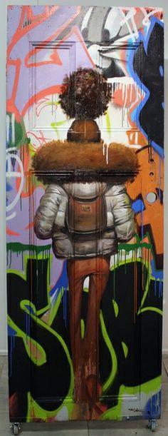 Frank Morrison - 42 Artworks, Bio & Shows on Artsy Music Painting, Artist Painting, Black Girl Art, Art Girl, Frank Morrison Art, Black Artwork, Black Is Beautiful, Urban Art, Love Art