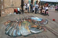 street chalk art | Street Art: 3D Chalk Drawings On Flat Pavement - Incredible