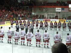 """Though many physical aspects of Lynah Rink have changed over the years, one thing remains constant: the crowd. Lynah is capable of holding 4,267 boisterous Cornell hockey fans who provide unwavering support for the Big Red and create an atmosphere that is unparalleled in the sport of college hockey.   Whether they're cheering for the Big Red or joining the pep band in their rendition of """"Give My Regards to Davy,"""" the Lynah Faithful reaffirm the old saying, """"there's no place like home."""