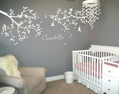 Personalized Name Large Tree Branches Wall Stickers