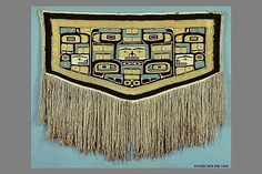 Ceremonial Robe (Chilkat Blanket)  Date:19th–20th century Geography:United States, Alaska Culture:Tlingit Medium:Wool (goat), commercial wool, plant fiber Collection | The Metropolitan Museum of Art
