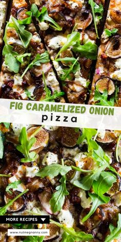 This fig caramelized onion pizza is full of flavor and ready in no time. You'll love this flavor packed pizza and be craving it all. fall. long. Trust me, this pizza needs to be made ASAP! Fancy Dinner Recipes, Delicious Dinner Recipes, Meals For Two, Main Meals, Pizza Recipes, Healthy Recipes, Healthy Food, Date Night Recipes, Pizza And More