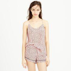 Silk sleep cami in baby palm tree : tops & shirtdresses | J.Crew