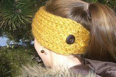 Ravelry: Buttoned Ear Warmer - Loom Knit pattern by Dayna Scoles