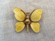 Vintage Enamel guilloche Butterfly by thejunkdiva on Etsy, $22.50