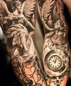 Angel tattoo sleeve for Men