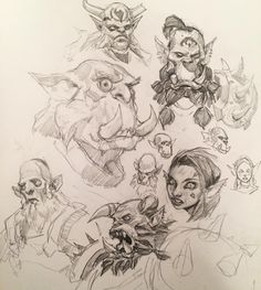 @nick_la_art re tagged me for the #pageofOrcs challenge - tag a friend and draw a page of orcs! #sketch