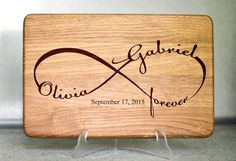 Our personalized cutting boards are custom engraved keepsakes. Our personalized cutting boards are custom engraved keepsakes. They make a unique and touching gift Wood Burning Crafts, Wood Burning Patterns, Wood Burning Art, Wedding Gifts For Couples, Personalized Wedding Gifts, Engraved Wedding Gifts, Gravure Laser, Diy Cutting Board, Personalized Cutting Board