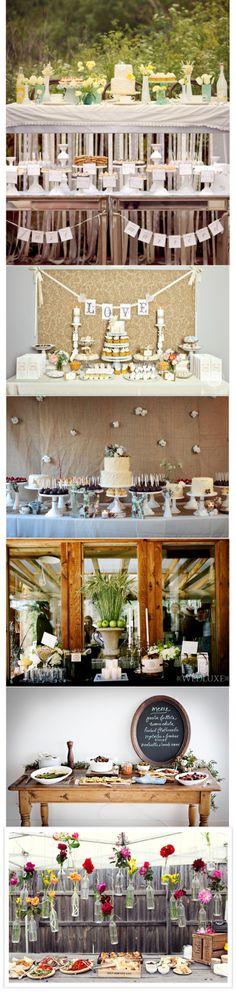 Wedding Buffet Table Arrangements
