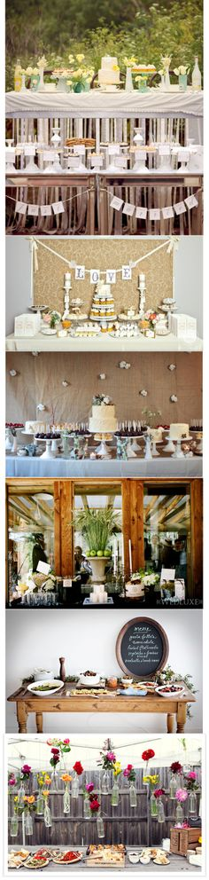 Dessert Buffet Table Ideas, @Jes Brouwer i thought of you when i saw the first one.