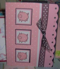 paper pieced polka dot pigs by ltg by icensheba - Cards and Paper Crafts at Splitcoaststampers