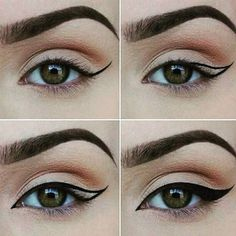 25 Easy, Elegant Eye Makeup Looks For Busy Morning! 25 Easy, Elegant Eye Makeup Looks For Busy Morning! Find a tutorial that matches the color of your eyes! Elf Makeup, Makeup Geek, Cat Eye Makeup, Natural Eye Makeup, Eye Makeup Tips, Natural Eyes, Makeup Ideas, Makeup Art, Hair Makeup