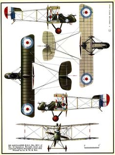 1914 - 1918 The Great War De Havilland DH2