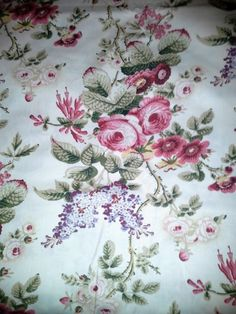 Laura Ashley English Garden Pattern,OOP,1YD,New,54inch Wide   cottonclub - Home Decor on ArtFire