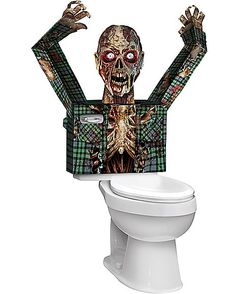 3D Zombie Toilet Cover - Decoration - Spirithalloween.com