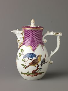 #Meissen  --  Hard--paste Porcelain Covered Jug  --  Circa 1760  --  Metropolitan Museum of Art