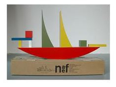 Naef Sailboat. The Bauhaus Bauspiel boat pictured above is a reproduction of an original model designed by Alma Siedhoff-Buscher in 1923.