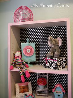 Transformed cheap bookshelves found at http://ms-smartie-pants.blogspot.com/2012/01/transforming-cheap-bookshelves.html