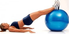 ejercicios con bola de estabilidad para gluteos