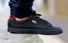 "Puma Court Star OG ""Black & High Risk Red"""