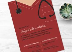 nursing graduation.  printable graduation invitation.