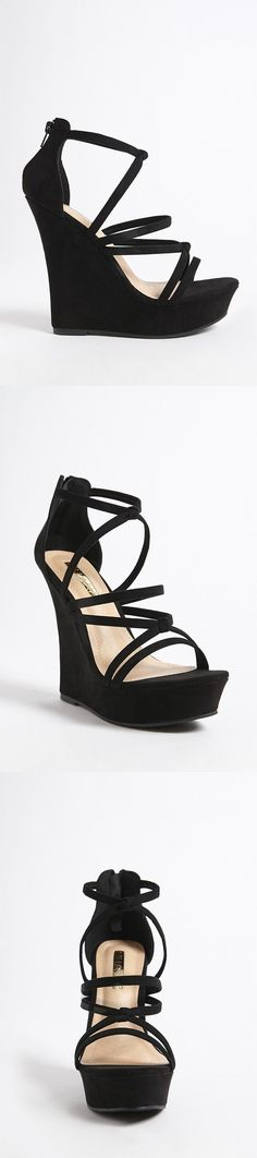Faux Suede Wedge Sandals // 35.00 USD // Forever 21