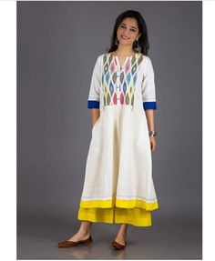 Beautiful kurti with print and superb color combinations