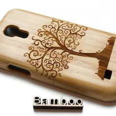 Houten Samsung Galaxy S4 Mini hoesje 'Levensboom' van Creative Technology   Markita.nl