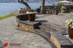 Raised Patio, Paving Stones, Garden Beds, Landscape Design, Concrete, Backyard, Gallery, Outdoor Decor, Wall