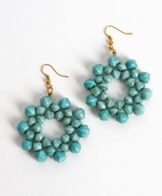 Bloomed Paper Earrings - Noonday Collection