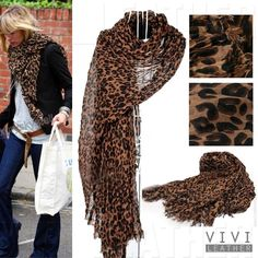 Leopard Animal Cheetah Print Fashion Large Wrap Pashmina Shawl Scarf Extra Long | eBay