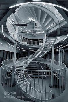 旋转楼梯 by hbwriping Graduation Project, City Architecture, Conception, Carousel, Opera House, Fair Grounds, Stairs, Building, Photography
