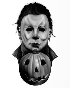 The finished piece! Michael Myers from John Carpenters Halloween… Horror Movie Tattoos, Horror Movie Characters, Horror Films, Horror Villains, Halloween Film, Halloween Horror, Arte Horror, Horror Art, Horror Crafts