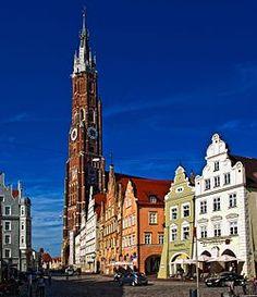 Église Saint-Martin à Landshut (Bavaria, Allemagne).