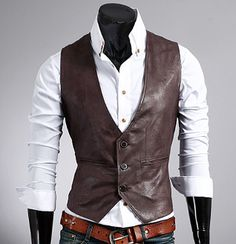 Men's PU Leather Vest