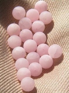 Frosted rose quartz #beads #jewelry #pink