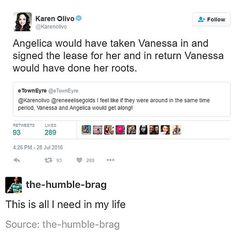 (Vanessa from in the heights if anyone's wondering btw @karenolivo76 was the original bway Vanessa and also is playing Angelica in Chicago! )