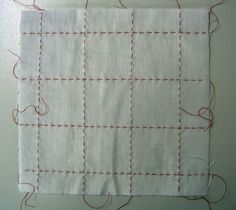 Here Nienke again, my turn to show my six swatches straightly stitched:  Tightly knotted: For 24 hours in a Procion MX so...