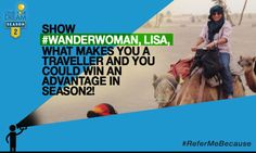 The #WanderWoman, Lisa, embarked on a cultural quest through Morocco and came back with a collection of stories to be passed on for generations Show her what makes you a traveller and you could win an advantage in Grab Your Dream Season 2! T&C: http://cnk.com/T&CReferMeBecause
