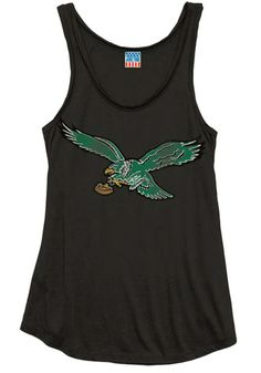 Philadelphia Eagles Womens Tank Top - Black Philadelphia Logo Sleeveless Shirt http://www.rallyhouse.com/shop/philadelphia-eagles-junk-food-11200068 $36.99