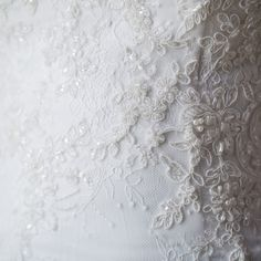 An exquisitely ethical lace wedding dress.