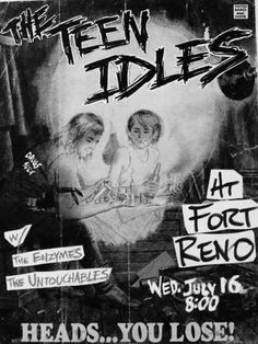 The Teen Idles, The Enzymes & Untouchables @ Fort Reno July 16 1980
