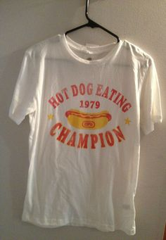 SPORTIQE ESPN 1979 HOT DOG Eating VINTAGE CHAMPION SHIRT